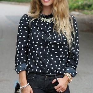 Merona polka dot shirt